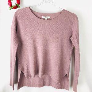Madewell Lavendar Chronicle Texture Sweater